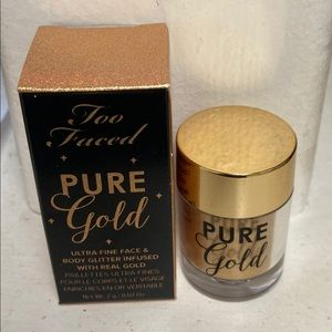 NWT Too Faced Pure Gold Face and Body Glitter
